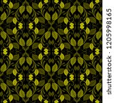 green vintage leaves vectpr...   Shutterstock .eps vector #1205998165