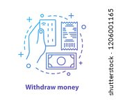 withdraw money concept icon.... | Shutterstock .eps vector #1206001165