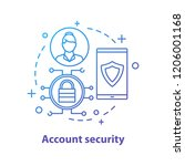 account security concept icon.... | Shutterstock .eps vector #1206001168