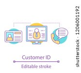 customer id concept icon. user... | Shutterstock .eps vector #1206001192