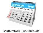 2018 year calendar. december... | Shutterstock . vector #1206005635