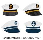 captain sailor hat | Shutterstock .eps vector #1206009742