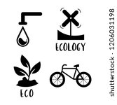 environment conservation symbol ... | Shutterstock .eps vector #1206031198