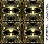 vintage gold ornamental vector... | Shutterstock .eps vector #1206034402
