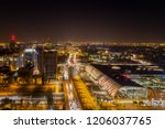 evening aerial view on railway... | Shutterstock . vector #1206037765