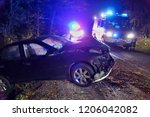 real event. car accident. the... | Shutterstock . vector #1206042082