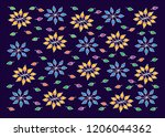 leaves  nature   floral pattern.... | Shutterstock .eps vector #1206044362