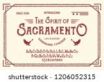 vintage gothic font. hand made... | Shutterstock .eps vector #1206052315