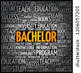 bachelor word cloud collage ... | Shutterstock .eps vector #1206057205