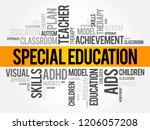 special education word cloud... | Shutterstock .eps vector #1206057208