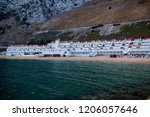 Gibraltar, United Kingdom, 2nd October 2018:- Sandy Bay on the East side of the Rock of Gibraltar. Gibraltar is a British Overseas Territory located on the southern tip of Spain. - stock photo