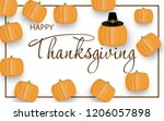 happy thanksgiving day... | Shutterstock .eps vector #1206057898