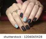 the manicurist excellently made ... | Shutterstock . vector #1206065428