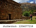 tourist in the funerary... | Shutterstock . vector #1206077218