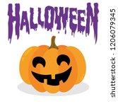 halloween pumpkin. vector... | Shutterstock .eps vector #1206079345