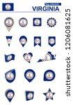 virginia flag collection. big... | Shutterstock .eps vector #1206081625