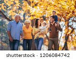 multl generation family in... | Shutterstock . vector #1206084742