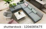 3d rendering luxury and modern...   Shutterstock . vector #1206085675