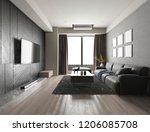 3d rendering luxury and modern... | Shutterstock . vector #1206085708
