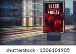black friday billboard in city... | Shutterstock . vector #1206101905