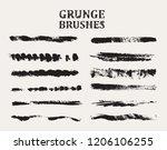 grunge brushes.vector brush...   Shutterstock .eps vector #1206106255