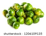 fresh brussles sprouts | Shutterstock . vector #1206109135