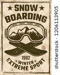 snowboarding vintage poster... | Shutterstock .eps vector #1206113905