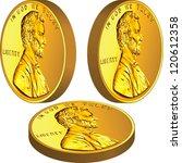 Vector American Gold Money  On...
