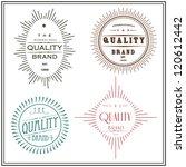 vintage label set | Shutterstock vector #120612442