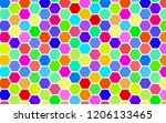 honeycomb many color ... | Shutterstock . vector #1206133465