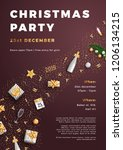 merry christmas party layout... | Shutterstock .eps vector #1206134215