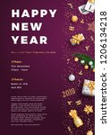 happy new year party layout... | Shutterstock .eps vector #1206134218