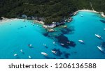 aerial photo of tropical exotic ... | Shutterstock . vector #1206136588