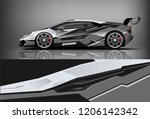 sport car racing wrap livery... | Shutterstock .eps vector #1206142342