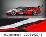 sport car racing wrap livery... | Shutterstock .eps vector #1206142348