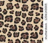leopard skin. vector seamless... | Shutterstock .eps vector #1206143005