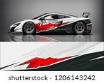 sport car racing wrap livery... | Shutterstock .eps vector #1206143242