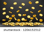 falling coins  falling money ... | Shutterstock .eps vector #1206152512