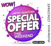 special offer  sale tag ...   Shutterstock .eps vector #1206154645