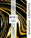 digital marble cover design for ... | Shutterstock .eps vector #1206157522