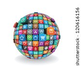 globe made from a different... | Shutterstock . vector #120616156