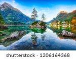 fantastic autumn sunrise of... | Shutterstock . vector #1206164368