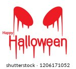happy halloween day with scary... | Shutterstock .eps vector #1206171052