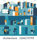 vector illustration in flat... | Shutterstock .eps vector #1206175795