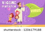 kids vaccination against virus... | Shutterstock .eps vector #1206179188