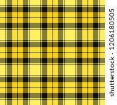 yellow and black tartan plaid... | Shutterstock .eps vector #1206180505