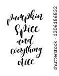 hand drawn lettering. ink...   Shutterstock .eps vector #1206186832