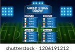 group stage draw table...   Shutterstock .eps vector #1206191212