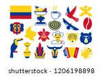 vector set of colombia icons... | Shutterstock .eps vector #1206198898