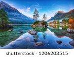 fantastic autumn sunrise of...   Shutterstock . vector #1206203515